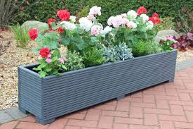 large wooden garden planter 150x32x33