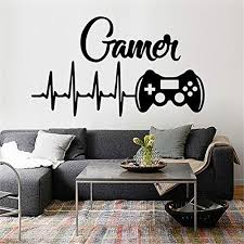 Decorate Life Gamer And Controller Wall Decal Sticker Art Vinyl Decor Removable Pvc Decoration For Playroom Game Room Bedroom Kids 7342cm Educational Toys Planet
