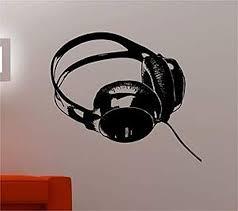 Amazon Com Wall Vinyl Decal Online Dj Headphones Music Kids Bedroom Vinyl Decor Sticker Home Art Print Wd7311 Home Kitchen