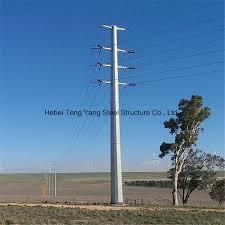 China Galvanised Utility Transmission Line Fence Poles Steel Pole China Steel Pole Galvanised Steel Pole