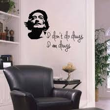 Art Wall Decal Salvador Dali Portrait Of Dali Quote I Don T Do Drugs I Am Drugs Studio Art School Vinyl Sticker Home Decor W224 Buy At The Price Of 8 00 In