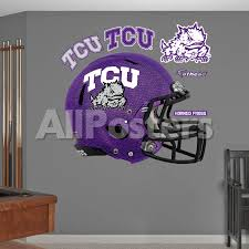 Tcu Horned Frogs Chrome Helmet Wall Decal Sticker Wall Decal Allposters Com