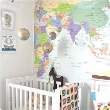 Mad For Mid Century Map Wall Stickers For A Travel Nursery