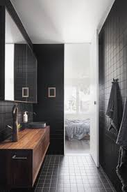 bathroom enclosed showers vessel sinks