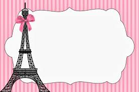 Paris Invitations And Free Party Printables Invitaciones De