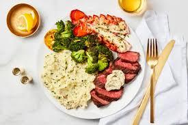 Garlic Herb Butter Steak & Lobster Tail ...