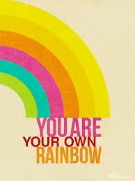 rainbow positive design quote rainbow quote rainbow