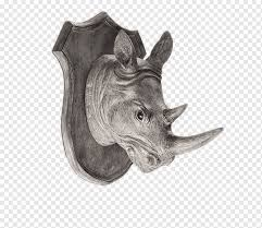 Wall Decal Sticker Decorative Arts Living Room Rhino Head Wall Stickers Creative Perspective Animals Wall Texture New Png Pngwing