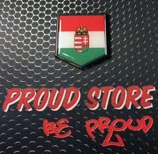 Hungary Domed Chrome Emblem Proud Magyarorszag Flag Car 3d Sticker 2 X 2 25 Ushirika Coop