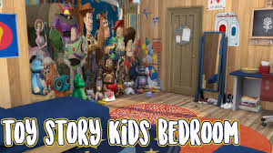 Sims 4 Speed Build Toy Story Kids Bedroom Youtube