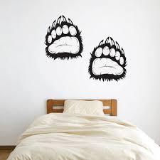 Grizzly Bear Paw Prints Tracks Vinyl Wall Decal Sticker Graphic Stonecreekdecor On Artfire