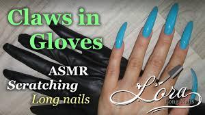 sti long fingernails scratching by