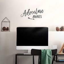 Amazon Com Vinyl Wall Art Decal Adventure Awaits 7 X 15 Inspirational Modern Trendy Vacation Travel Lifestyle Arrow Cursive Home Bedroom Living Room Office Apartment Work Decor 7 X 15