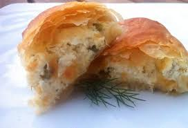 phyllo dough rolls with feta cheese and
