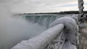 a frozen niagara falls leave visitors