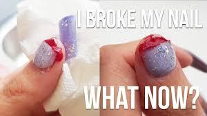 i broke my nail deep you
