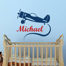 Cartoon Airplane Wall Stickers Children Bedroom Creative Stickers Home Decor Customized Boys Name Wall Decals Creative Home Decor Olivia Decor Decor For Your Home And Office