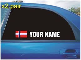 Your Name Rally Race Car Window Sticker Decal With Norway Etsy