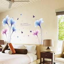 3d Wall Stickers Flower Purple Dream Orchid Diy Removable Wall Decal Living Room Home Wallpaper Mural Art Home Decor 2017 Home Decor Wall Sticker Flowerremovable Wall Decals Aliexpress
