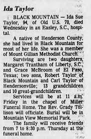 Ida Sue Reece Taylor Obituary - Newspapers.com