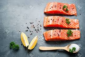 salmon and sea fish fillet