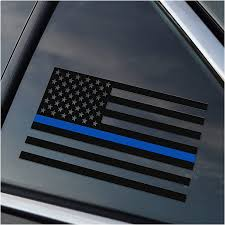 Amazon Com Thin Blue Line Police Support Vinyl Car Window Decal Sticker Arts Crafts Sewing