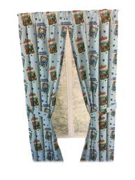 Amazon Com Toy Story Drapes Kids Window Panel Curtains With Tie Backs Sky Blue Furniture Decor