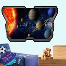 Solar System Planets Astronomy Wall Sticker 3d Art Poster Mural Decal Decor Vb4 Ebay
