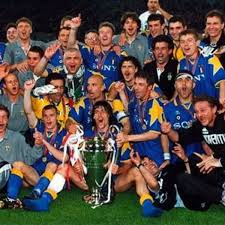 Del Piero festeggia la Champions 1996: