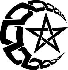 Crescent Moon With Pentacle Star Vinyl Car Window Laptop Decal Sticker Ebay