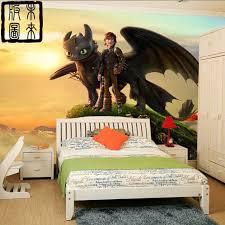 Aliexpress Com Buy How To Train Your Dragon Photo Wallpaper 3d Cartoon Wallpaper Wall Mural Wallpaper Childrens Room How Train Your Dragon Dragon Wall Mural