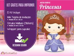 Princesas Invitaciones Y Candy Bar Para Imprimir Mundo Mab