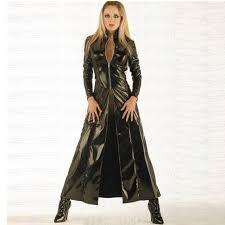 vinyl clubwear balck pvc faux leather