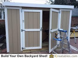 swinging shed door plans garden shed