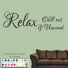 Relax Bath Unwind Wall Sticker Quote Art S6 Vinyl Decal Decor Bathroom