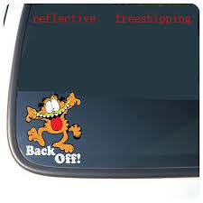 2020 Garfield Back Off Vinyl Funny Good Look Car Phone Stickers Window Door Decal Sticker Reflective Silver Color From Mysticker 7 04 Dhgate Com