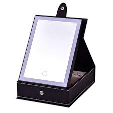 led lighted makeup mirror jewelry box