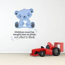 Zoomie Kids What To Think Cute Bear Vinyl Wall Decal Wayfair
