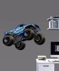Monster Jam Blue Thunder Fathead Jr Wall Decal Set Of Seven Best Price And Reviews Zulily