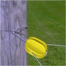 Corner Post Yellow Electric Fence Insulators Zareba