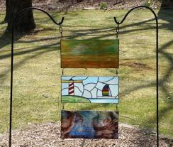 stained glass garden project