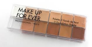 make up for ever foundation palette