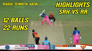 SRH vs RR Full Highlights IPL 2020 ...