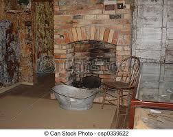 old fireplace an old brick fireplace