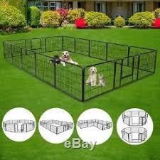 24 Tall Foldable Dog Playpen Crate Yard Fence Small Animals Play Pen Exercise