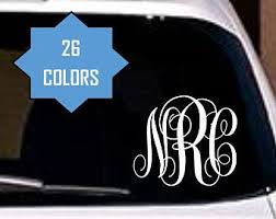 Monogram Car Decal Etsy