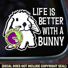 Life Is Better With A Bunny Rabbit Vinyl Decal Sticker Gorilla Decals
