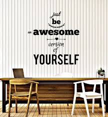 Vinyl Wall Decal Words Just Be Awesome Inspiring Quote Inspirational P Wallstickers4you