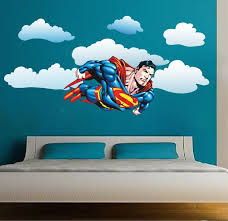 Superman Flying Wall Decal Superman Bedroom Wall Decal Superhero Boys Room Wall Designs Superheroes Wall Art Kids Bedroom Wall Decor Wall Decals For Bedroom Superhero Wall Art