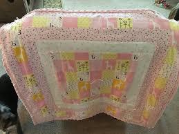 baby girl quilt crib bedding pink